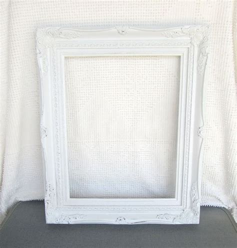 shabby chic white large ornate open resin frame gallery