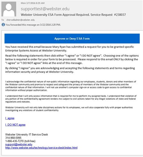 Kbcc Help Desk by Access Request Form Approval Email Enterprise Systems