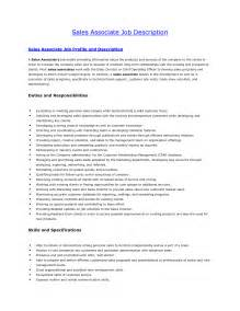 Resume Exles Descriptions Sales Associate Duties Sales Associate Description Sales Associate Description For Resume