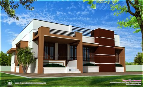 house front elevation designs for single floor single storied contemporary house kerala home design and floor plans