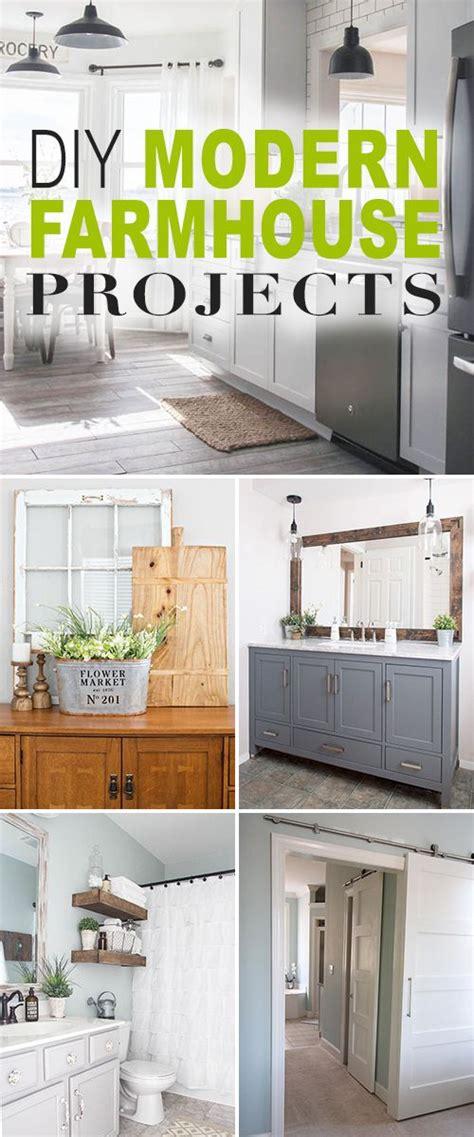 diy modern farmhouse decor projects bloggers  diy