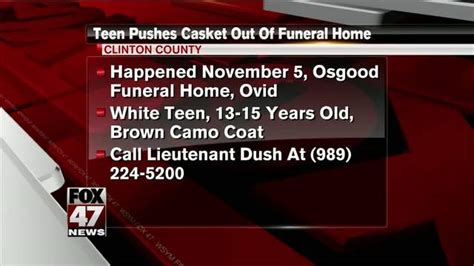 looking for person seen wheeling casket from