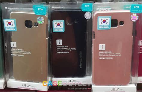 Mercury Goospery Jelly Samsung Galaxy A7 2016 A710 Hitam เคส galaxy a5 2016 a7 2016 tpu ส โลหะ i jelly metal by