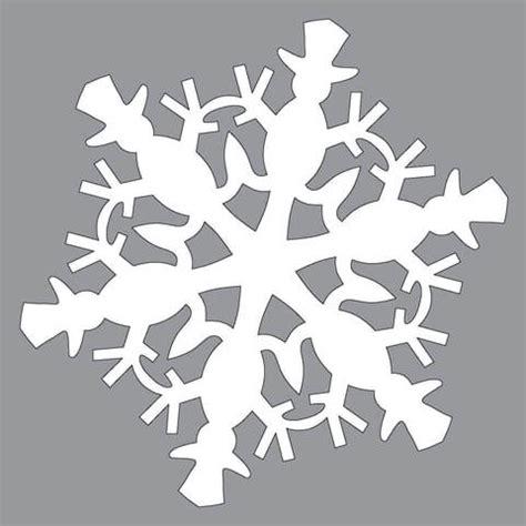 paper snowflake pattern  snowman cut  template