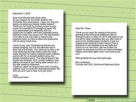 How To Write Thank You Letter Format how to write a thank you letter with sle letters