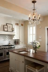 Kitchen Island Chandelier by Walnut Kitchen Island Traditional Kitchen