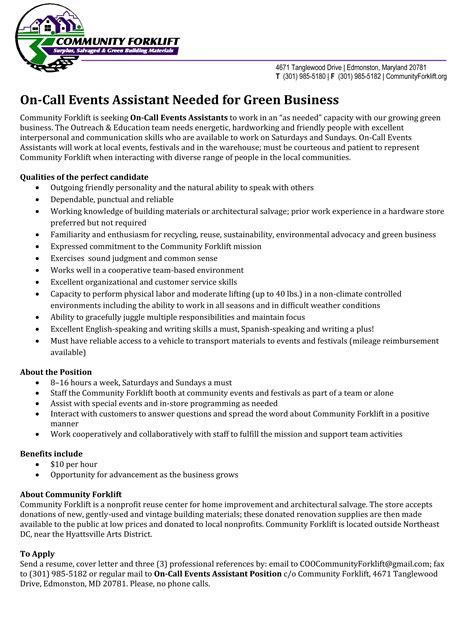 Special Events Assistant Cover Letter by Special Events Assistant Sle Resume Concrete Mixer Truck Driver Cover Letter