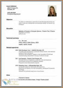 How To Do A Resume Exles by 16 How To Make A Cv For Basic Appication