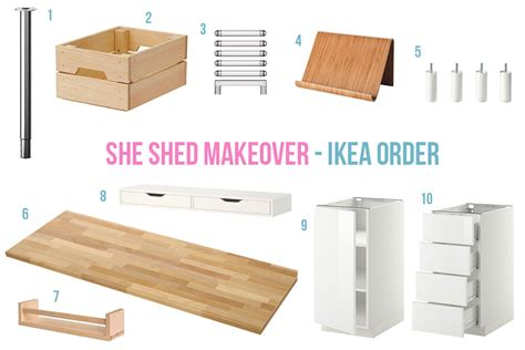 my ikea order she shed makeover part two the ikea order maybush studio