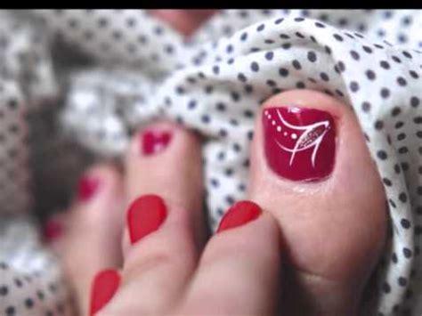 imagenes uñas pintadas de rojo video decoracion u 241 as pies dise 241 o para u 241 as de los pies