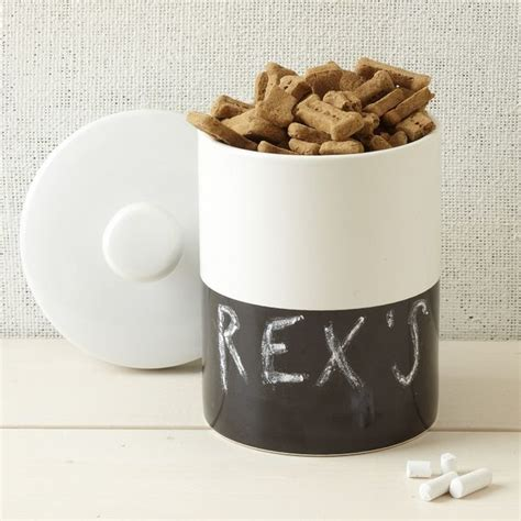 Contemporary Accessories For Your Pet by Dipper Pet Jar Chalkboard Contemporary Pet Supplies