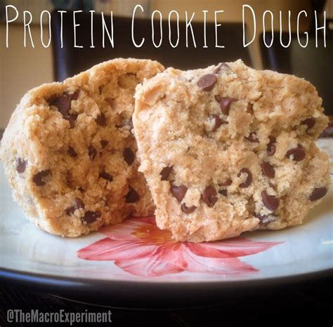 protein cookie dough enjoying food protein cookie dough the macro experiment