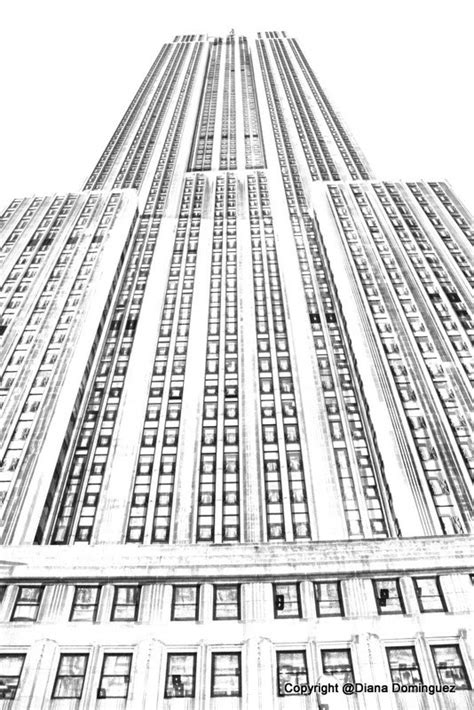 sketch nyc the empire state building sketch new york by ddfoto