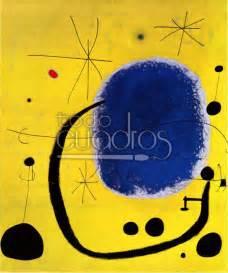 cuadres de joan miro oro del azul de mir 243 cuadro de colores fuertes