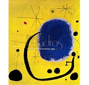 Oro Del Azul De Mir&243 Cuadro Colores Fuertes