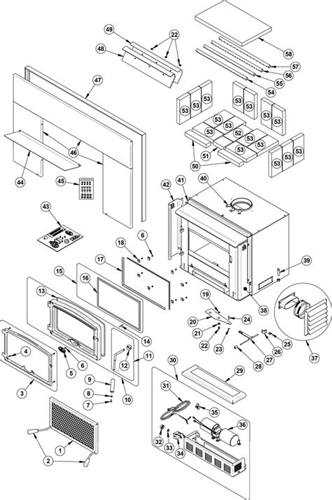 Osburn 2200 Insert Parts Diagram.