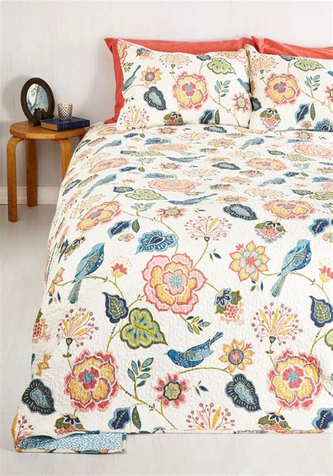 modcloth bedding tweet dreams quilt set in full queen let the pastoral