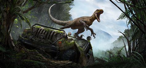 jurassic jeep blue bilder jurassic jeep dinosaurier velociraptor