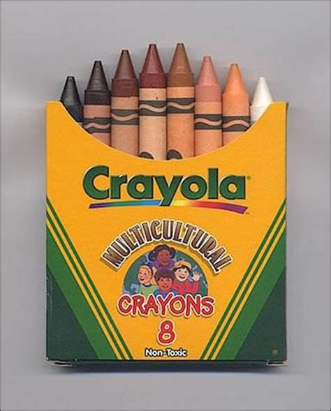 multicultural crayons eight skin colors in one box