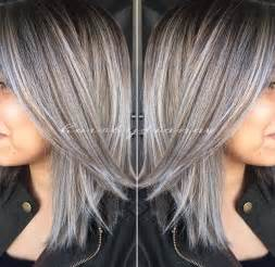 how to create gray highlights in brown hair 17 best ideas about silver highlights on pinterest gray