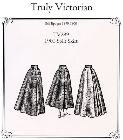 Sewing Pattern Victorian Skirt | truly victorian ladies 1901 split skirt riding skirt in