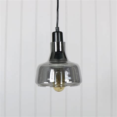 grey smoked glass pendant light melody maison 174