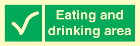 lalizas imo signs eating drinking area eating and drinking area kj 248 p emergency signs