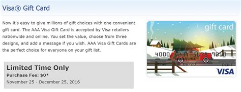 Aaa Gift Cards - get fee free visa gift cards from aaa mid atlantic frequent miler