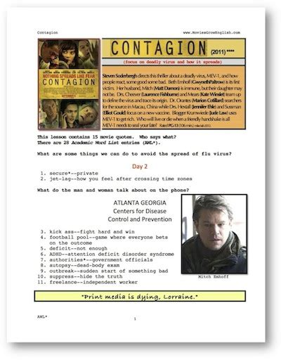 Contagion Worksheet Answers by Contagion Quotes Quotesgram