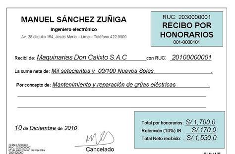retencion de dinero por sunat recibos por honorarios 2016 marquez iure abogados 191 c 243 mo dejar de emitir recibos por