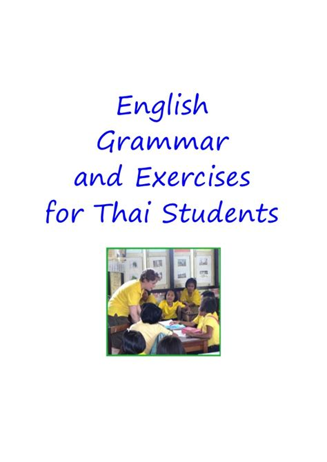 english grammar for students 0934034427 english grammar exercises for thai students 276p