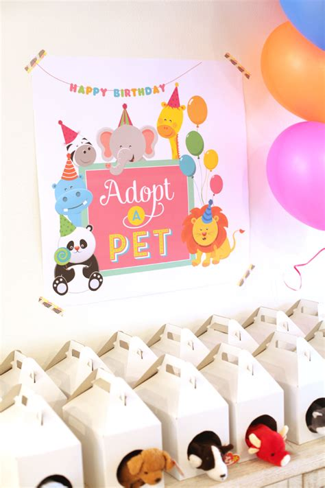 pet themed kids parties best kids party supplies pet adoption birthday party