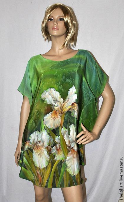 Tunik Shibori quot quot silk painting