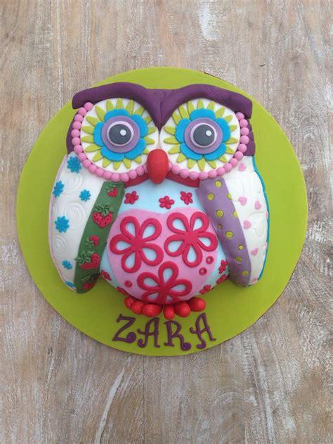 Patchwork Owls - patchwork owl cake ideas owl cakes