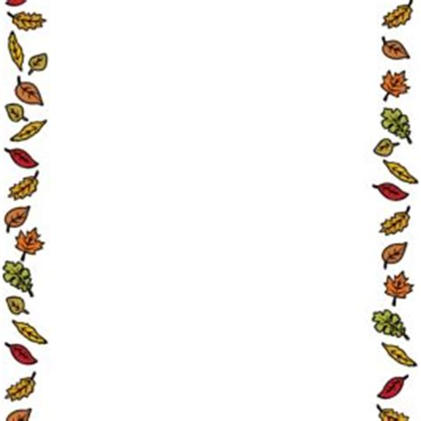 fall coloring page borders autumn border clip art free coloring pages of autumn border
