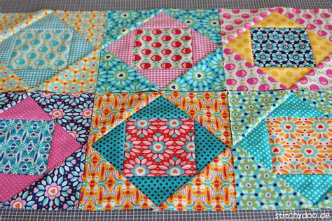 Economy Block Quilt by Stitchydoo Kunterbuntes Fr 252 Hlings Patchwork Economy