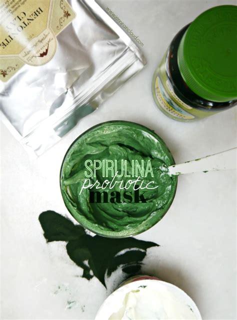 Masker Green Mask Spirulina spirulina probiotic mask raincloud