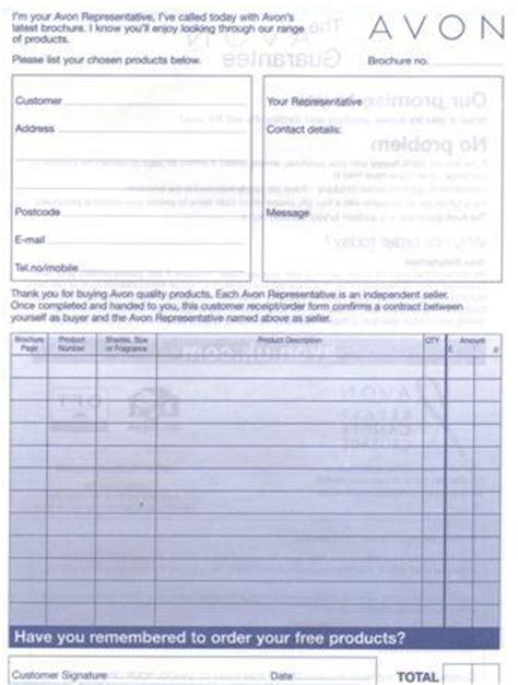 avon receipt template avon order form excel rabitah net