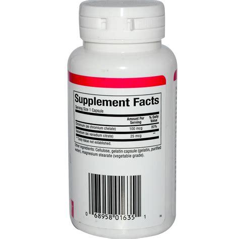 chromium vanadium natural factors chromium vanadium 125 mcg 90 capsules
