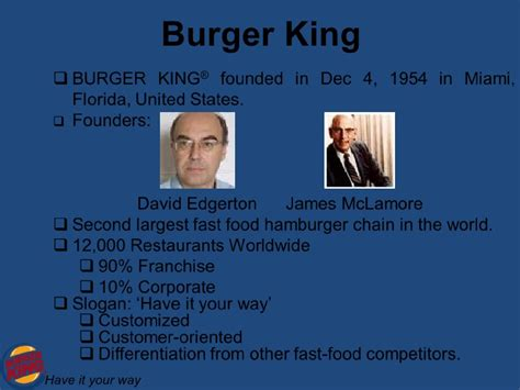 Burger King Mba Leadership Program Glassdoor by Presentation On Burger King