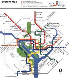 Metro System Map by D C Metro System Map