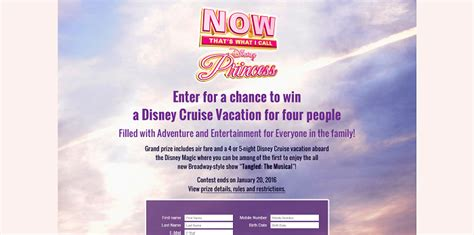 Disney Cruise Giveaway - now that s music disney cruise sweepstakes