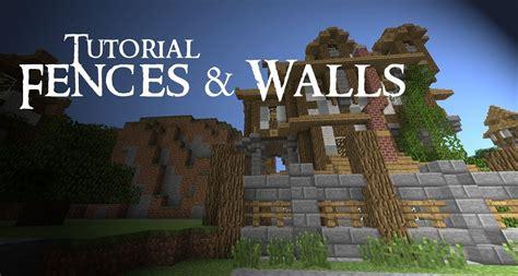minecraft walls tutorial minecraft tutorial medieval fences and walls minecraft