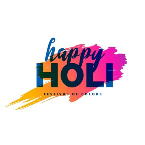 design love fest logo background with watercolor stains happy holi festival