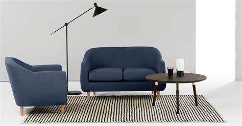 Sarung Sofa Europe Part 2 Limited tubby 2 seater sofa navy made