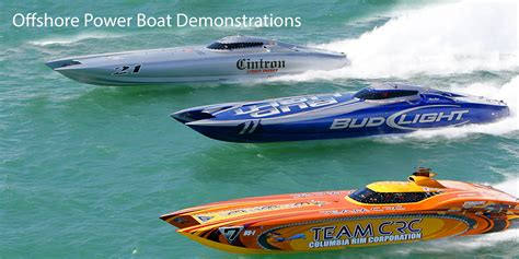 offshore power boats racing offshore powerboat racing exhibition miami air sea