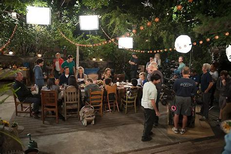 parenthood backyard family dinner scene parenthood behind the scenes