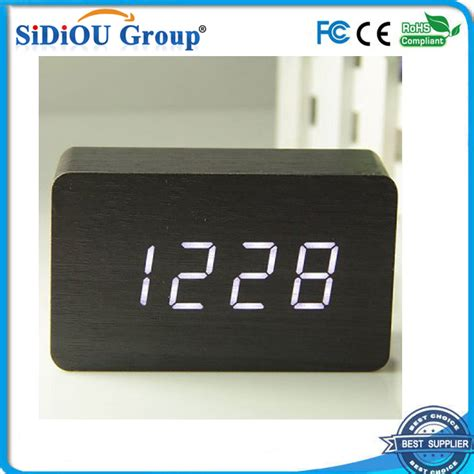 small digital horloge num 233 rique led usb led horloge de bureau