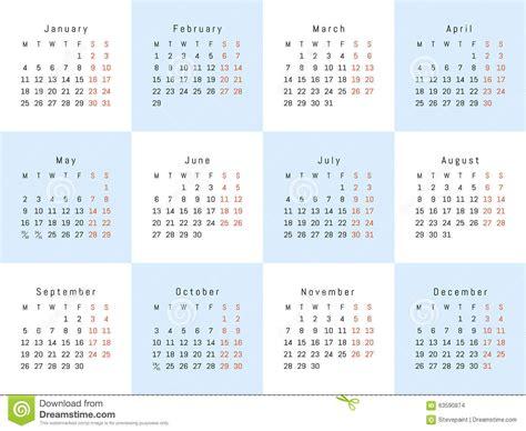 creative calendar template vector creative calendar stock vector image 63590874