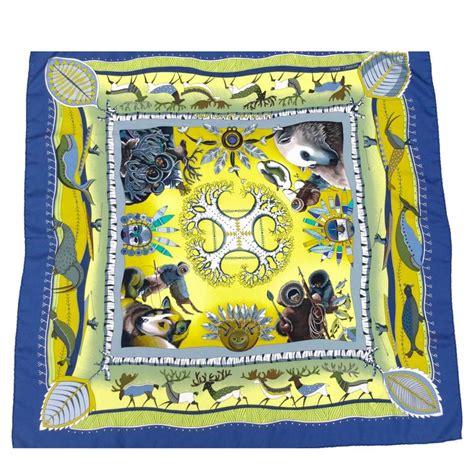 Big Hermes Free Scarf gorgeous hermes eskimo themed silk scarf at 1stdibs